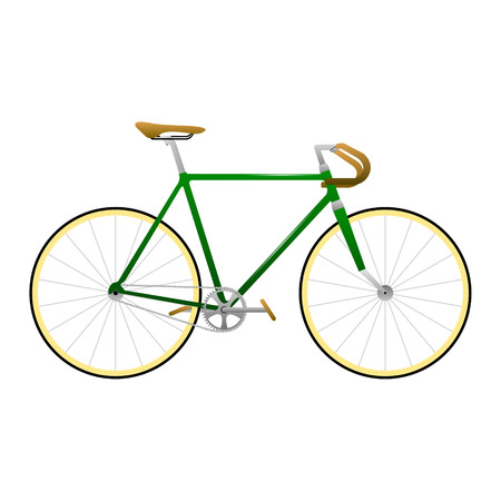 Fixie Yellow Bike Vector Royalty Free Cliparts Vectors And Stock