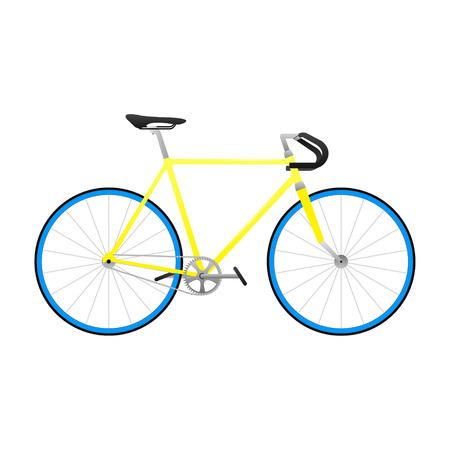 Fixie yellow bike vector