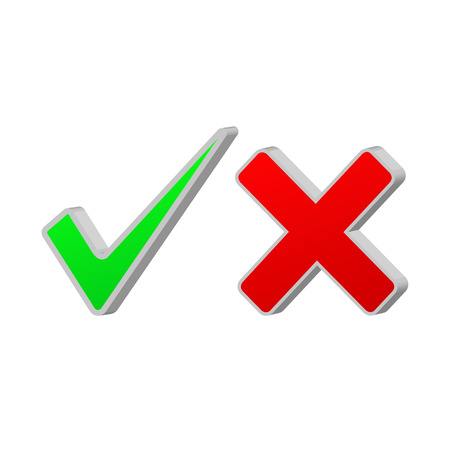 Accept and cancel symbol Vector