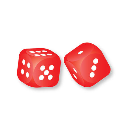 red dice: Red dice vector
