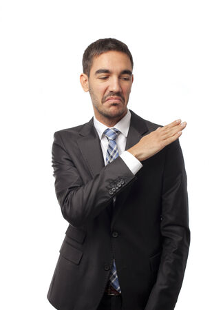 Vain businessman Stock Photo