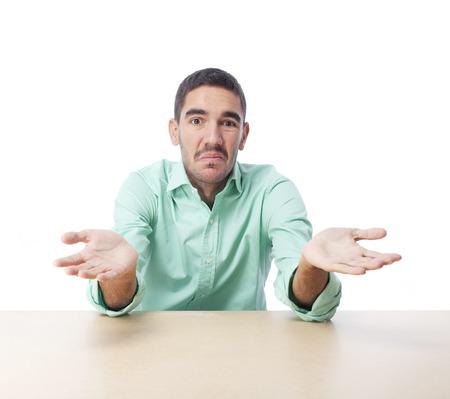 wondering: Young man wondering
