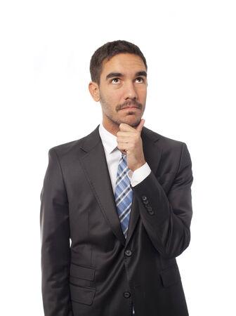 wondering: Businessman wondering