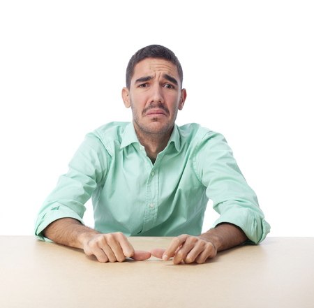 Concerned guy Stock Photo
