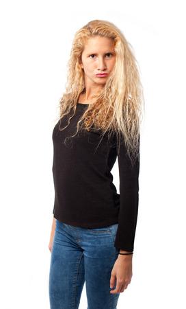 smug: Smug girl posing Stock Photo