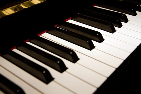 keyboard instrument: Piano keyboard Stock Photo