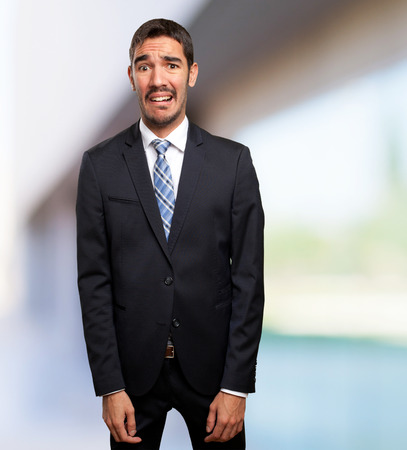 concerned: Concerned businessman Stock Photo