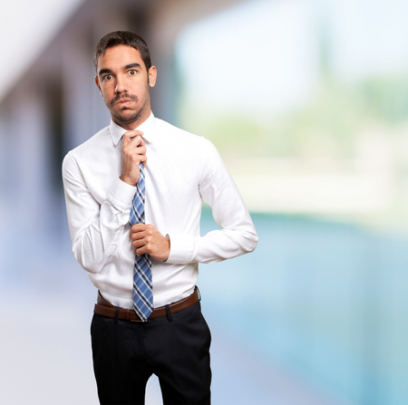 distressed: Distressed businessman Stock Photo