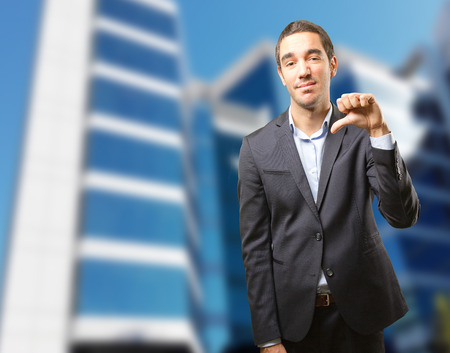 Worried businessman with a fail gesture Stock Photo