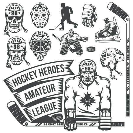 winter dance: Hockey items in vintage style. Ise hockeq stuff.