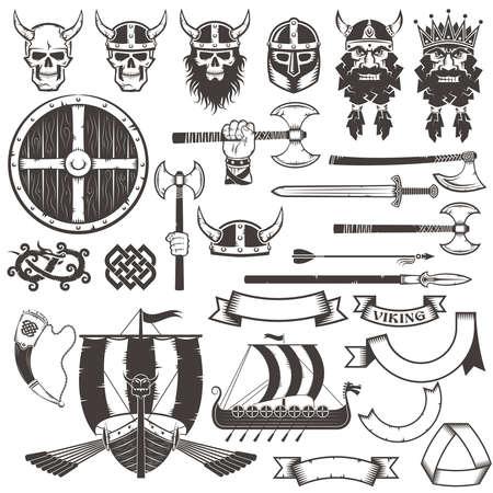 Set van viking wapens en items.