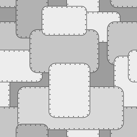 원활한 패턴 - 리벳와 금속 시트입니다. 벡터 일러스트 레이 션.
