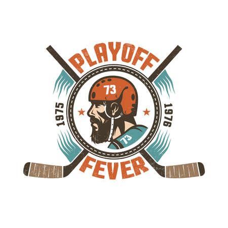 Vintage hockey playoff emblem