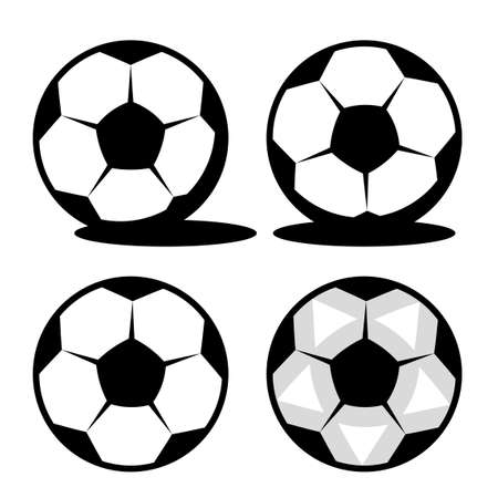 Classic football with black pentagons and white hexagons.