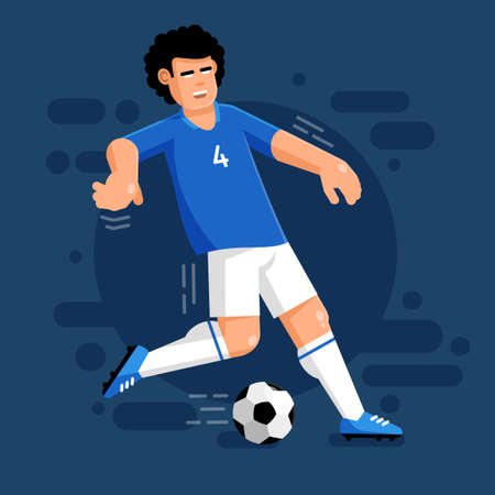 Football player image illustration