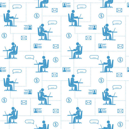 People in global network are sitting communicate illustration