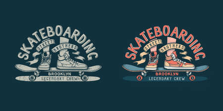 Skateboarding icon design illustration Illustration