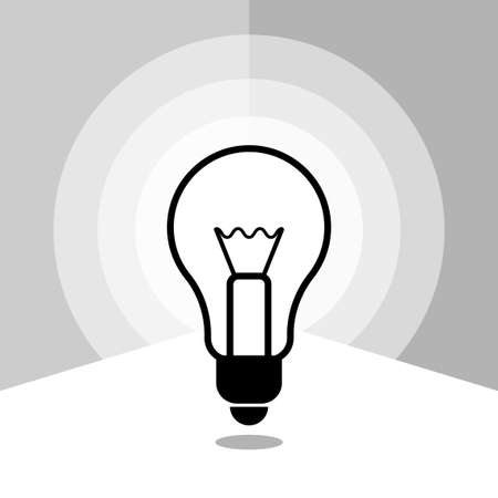 Icon light bulbs in linear style image