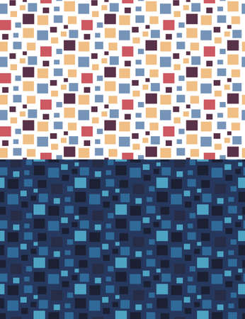 Geometric seamless pattern of colored squares. Vector.