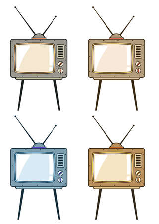 Retro TV with antennas