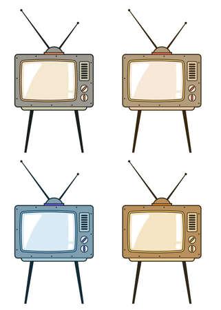 Retro TV with antennas