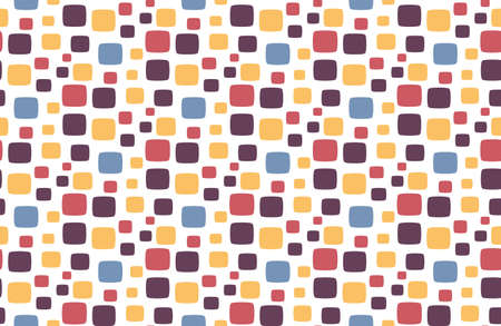 Seamless pattern for fabric from squares with round corners. Illustration