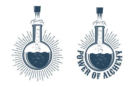 Logotipo retro de química