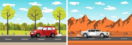 car rides lanscape