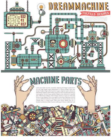 Steampunk-Maschine