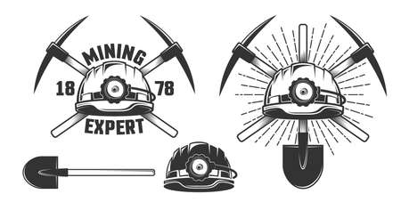 Mining vintage emblem Illustration
