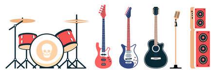 Rock band instruments set