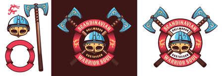 Scandinavian Viking warrior logo