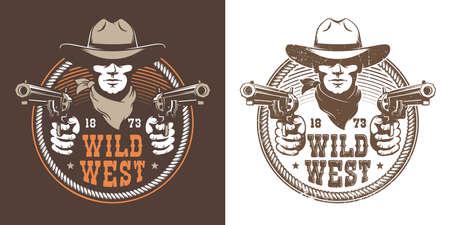 Cowboy with guns Banque d'images - 132741873