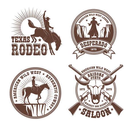 Cowboy wild west rodeo vintage logo