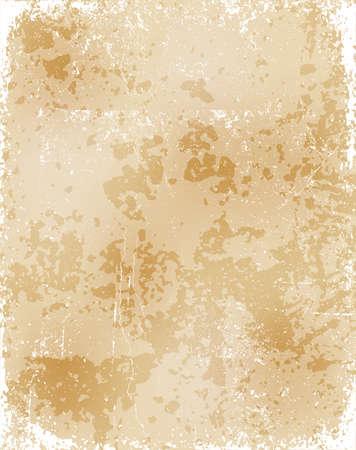 Worn old paper texture. Distressed vintage paper sheet. Vector illustration.