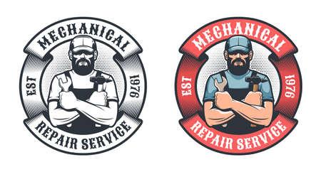 Mechanical repair service retro Stock Vector - 140895896