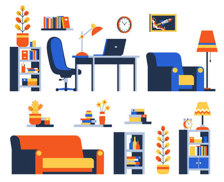 Home Accessories and Furniture Illustration