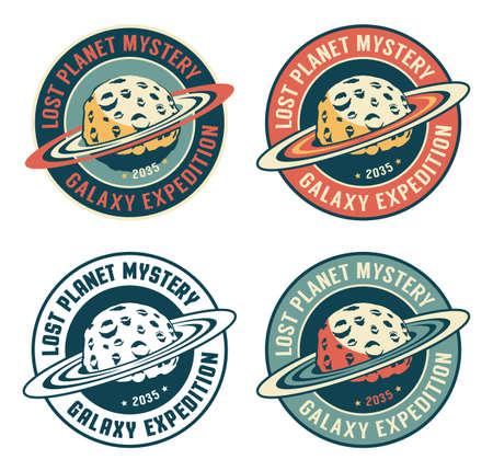 Alien planet - retro space badge