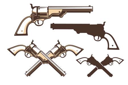 Western gun retro style
