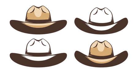 Western Cowboy hat - retro style Illustration