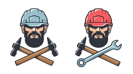 Mechanical workshop service retro logo Illusztráció