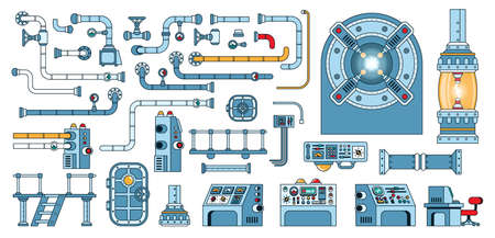 Parts of scientific laboratory equipment Иллюстрация
