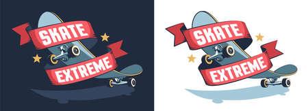 Skate extreme retro emblem