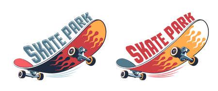 Skateboard vintage cartoon logo