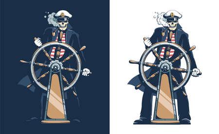 Pirate Ship Captain - skeleton sailor