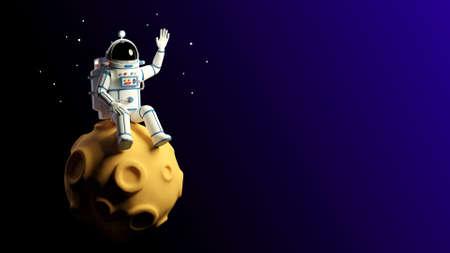 Astronaut sitting on the moon