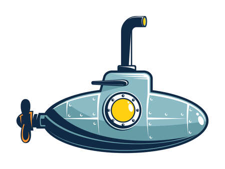 Retro small submarine