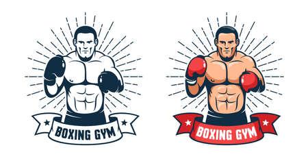Boxing gym vintage icon
