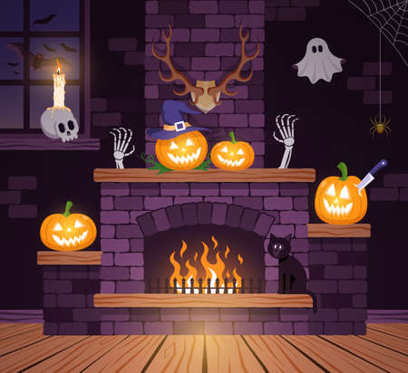 Halloween room in the old castle