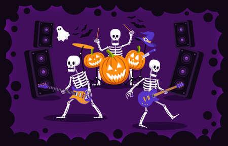 Halloween rock party Иллюстрация